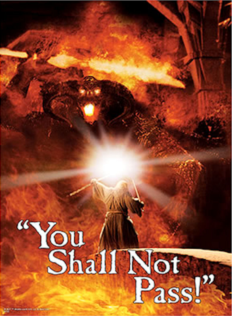 You Shall Not Pass One And Lord Of The Rings