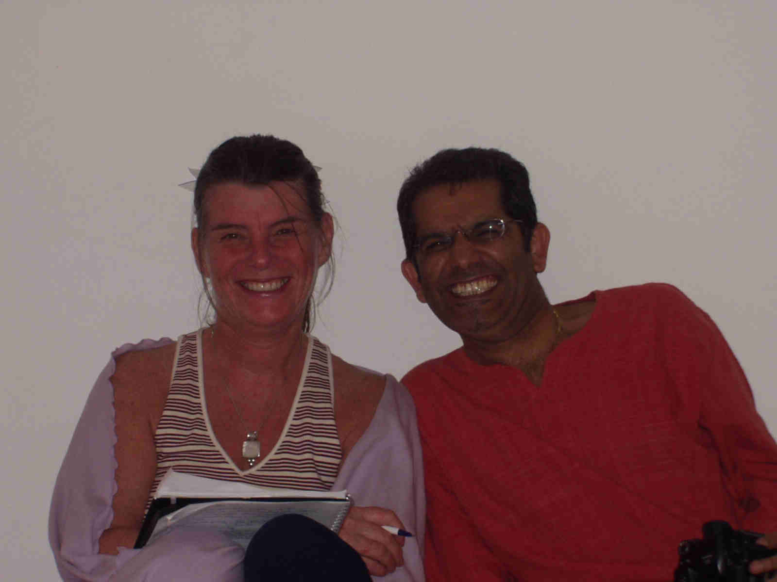 Vanessa with Dhiren, another Energy Enhancement course member