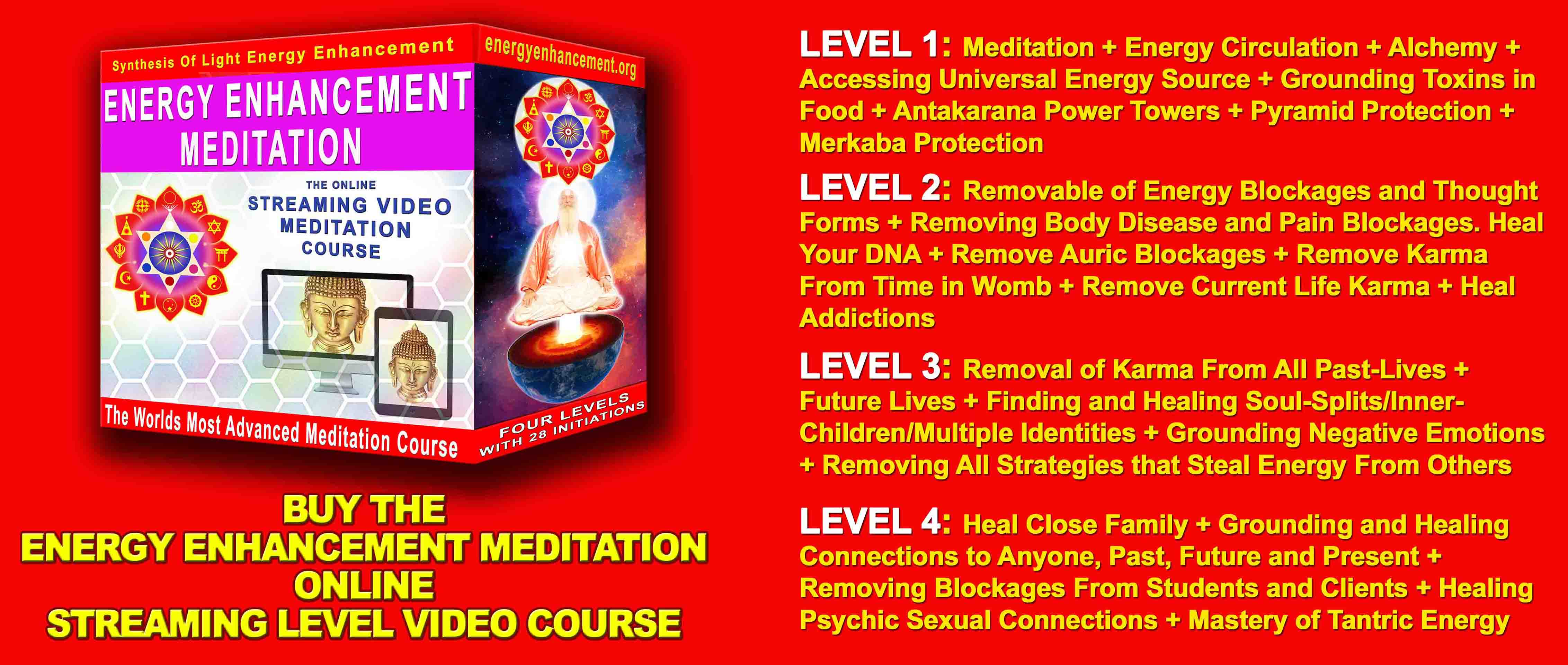 Meditation Enlightenment and Illumination Remove Entities