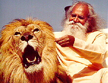 Satchidananda with Lion