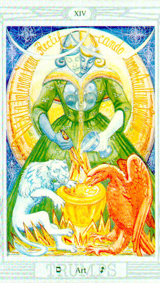 The Art Card of the Tarot gives the secret of VITRIOL, the most important formula, Guided Meditation, of Alchemy. The Secret of Energy Enhancement Meditation Course Stage Three.